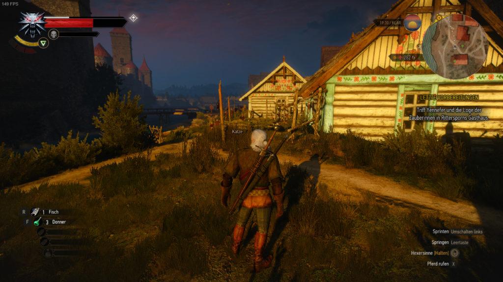 Witcher 3 PC vs Switch: Szene 1 - PC