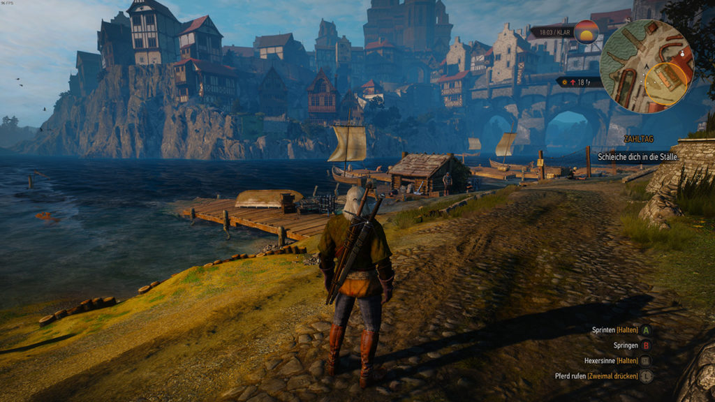 Witcher 3 PC vs Switch: Szene 3 - PC
