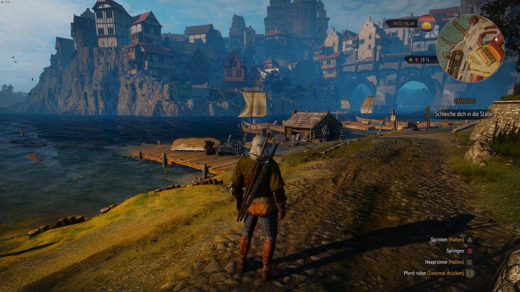 Witcher 3 PC vs Switch: Szene 3 - PC